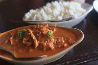 Goan fish curry in Palolem, Goa, India.