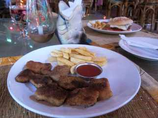 Fish and chips in Palolem, Goa, India.
