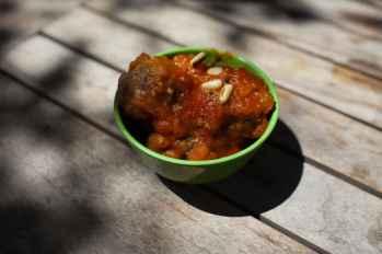 Meatballs in Gili Trawangan.