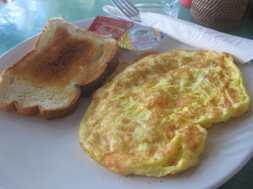 Cheese omelet in Gili Trawangan.