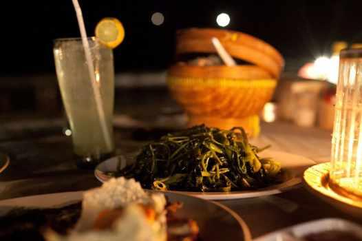 Spinach in Jimbaran, Bali.