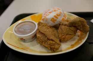 Jollibee fried chicken in Cebu, Philippines.