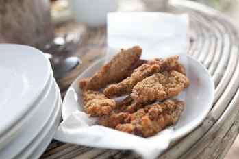 Fried fish in El Nido, Philippines.