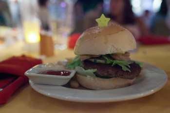 Hamburger in Malapascua, Philippines.