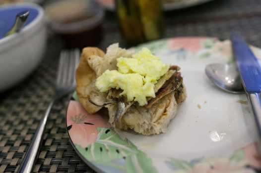 Breakfast in Manila, Philippines.