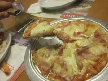 Shakey's pizza in Manila, Philippines.