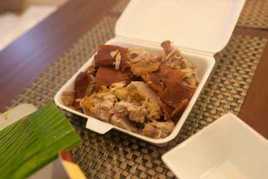 Lechon Pork in Manila, Philippines.