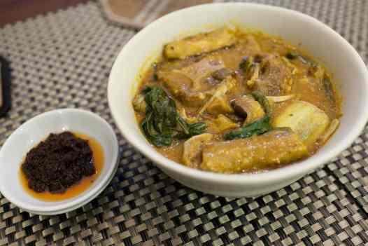 Peanut stew in Manila, Philippines