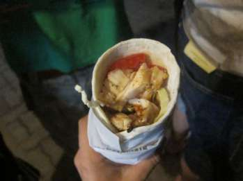Chicken wrap in Chiang Mai, Thailand.