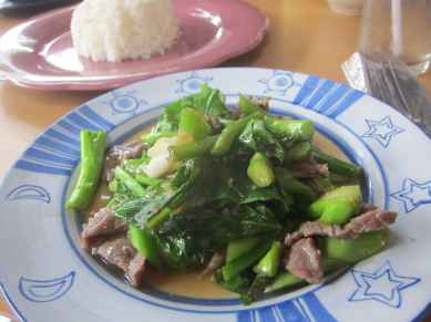 Stir fried beef in Chiang Mai, Thailand.