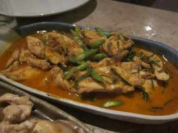 Stir fried chicken in Chiang Mai, Thailand.