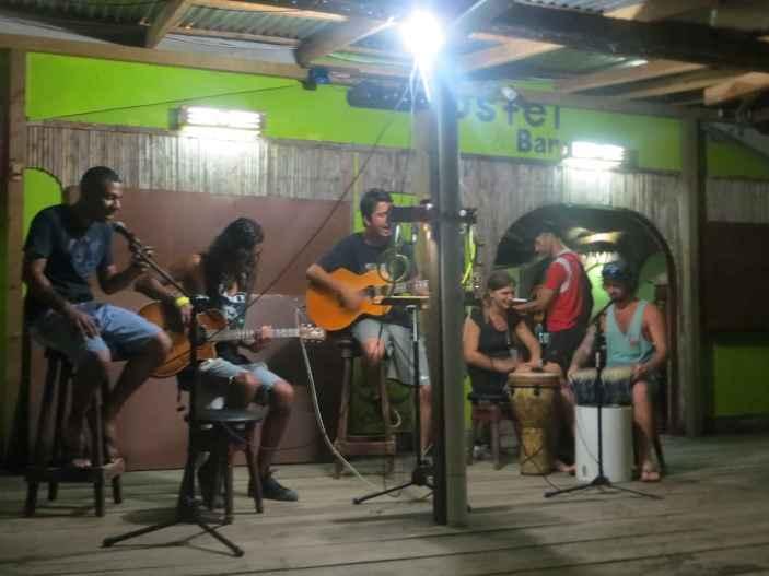 Open mic night at Aqua Lounge in Bocas del Toro, Panama.