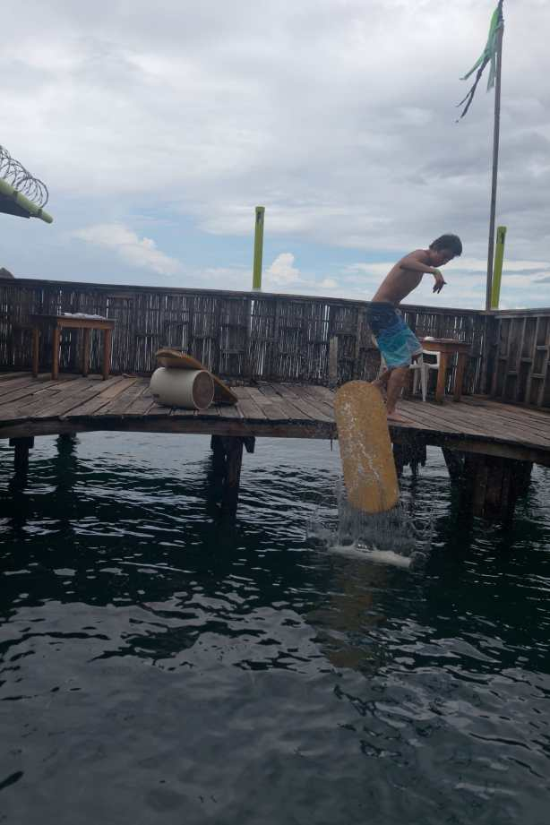 Indo board at Aqua Lounge in Bocas del Toro, Panama.