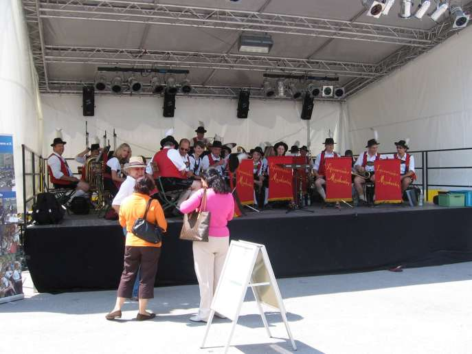 A band playing in Munich, Germany