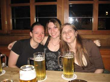 Alina, Isla, Me and some Radlers in Munich, Germany