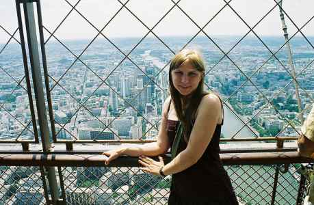 Me at the top of the Eiffel Tower in Paris, France
