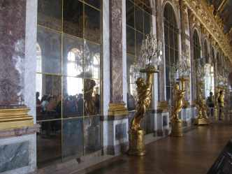 Hall of Mirrors at Versailles in Paris, France