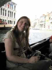 On a gondola in Venice, Italy
