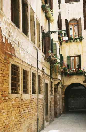 The streets of Venice, Italy