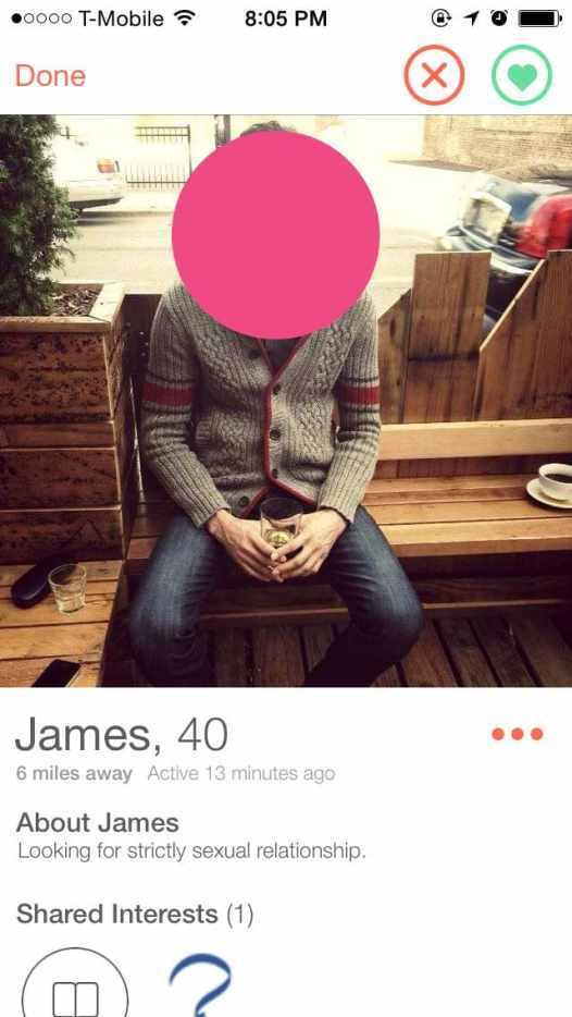 The Men I Meet on Tinder - James just wants sex.