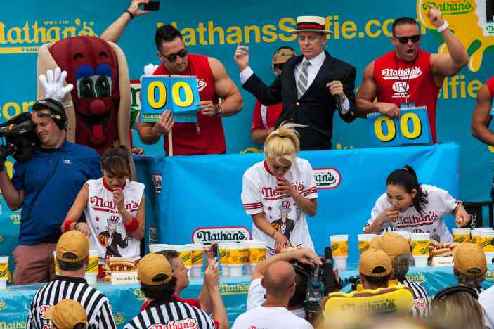 Women's Contest at the 2015 Nathan's Famous July 4 Hot Dog Eating Contest
