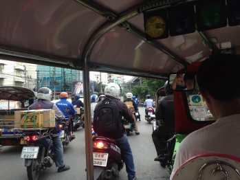 Motorbikes everywhere.