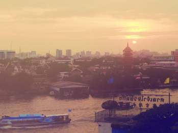 Sunset in Bangkok.