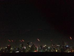 Night view of Bangkok.