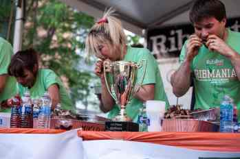 Miki Sudo | Ribmania Ribs Eating Contest at Ribfest Chicago