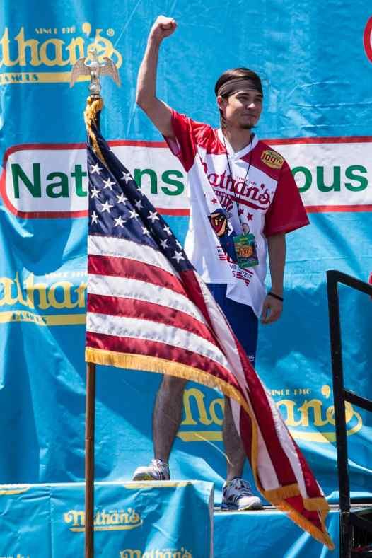 2015 reigning hot dog eating champion Matt Stonie.