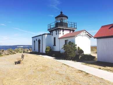Point No Point lighthouse in Hansville, Washington.