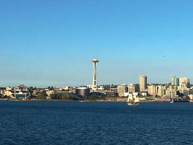 Taking the ferry back to Seattle from Bainbridge Island.