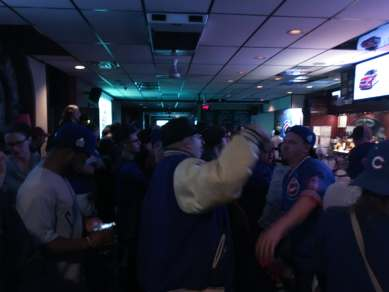 When the Cubs won, the bar went wild!