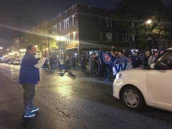 And they sang Go Cubs Go in the street.