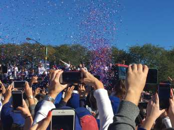 Chicago Cubs World Series Victory Parade in Grant Park, Chicago.