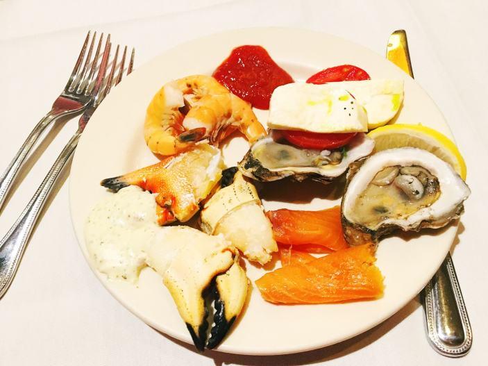 Thanksgiving buffet - plate 1.