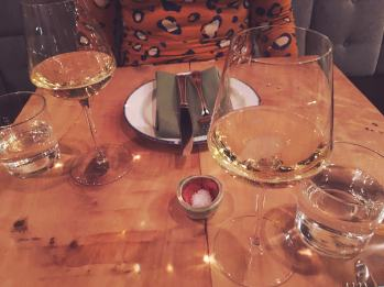 Wine Pairing - New Year's Eve dinner at Giant restaurant in Chicago.