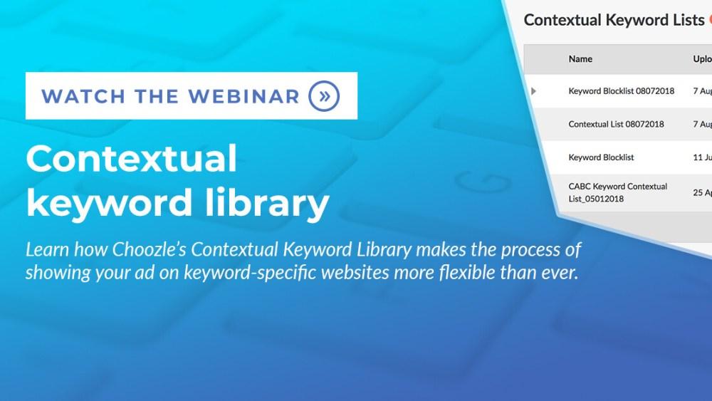 Contextual keyword library webinar