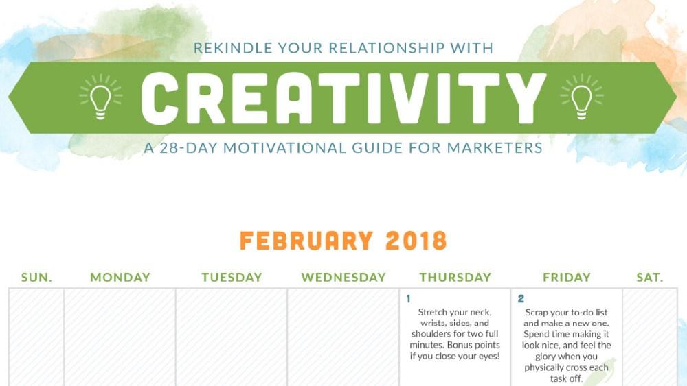 February creativity calendar by Choozle