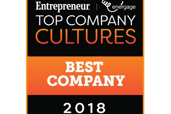 Entrepreneur Top Company Cultures 2018 Logo