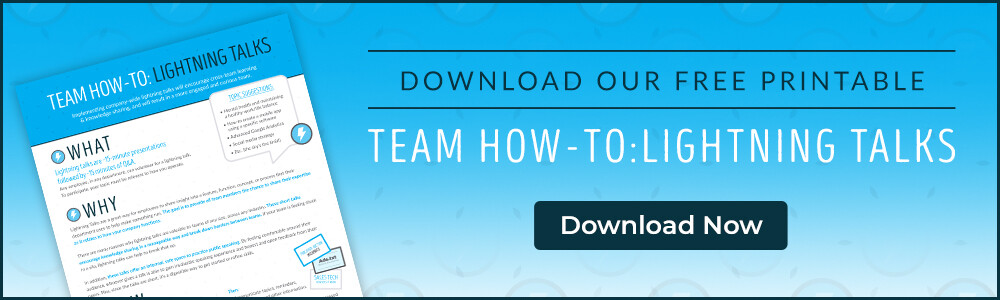 Team how-to: Lightning talks