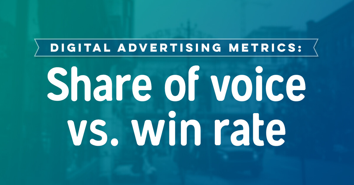 Share Of Voice VS Win Rate in Advertising