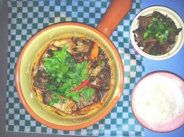 Vietnamese braised clay-pot fish. Eating with hot steaming rice is the best.