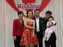 The couple and family