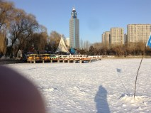 """Winterized"" duck-paddle boats"