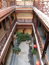 the courtyard of our hotel