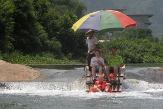 rafting the Yulong river