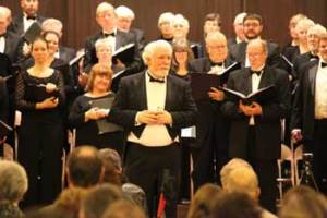 Artistic Director James Schatzman with the Choral Arts Society