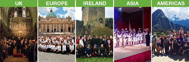 KIconcerts custom choir tour destinations