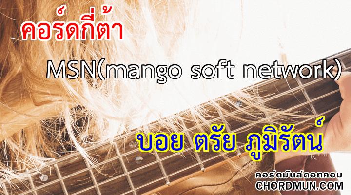 คอร์ดกีต้าร์ เพลง MSN(mango soft network)